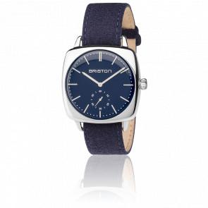 Reloj Clubmaster Vintage Acero HM Segundero Franela azul