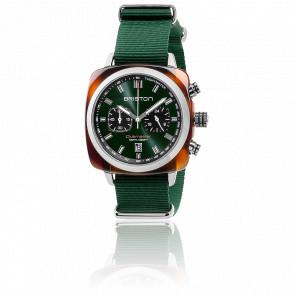 Reloj Clubmaster Sport Acetato Chrono - Nato Verde