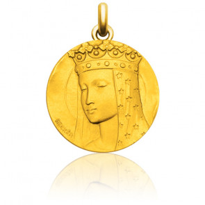 Medalla virgen con velo estrellado