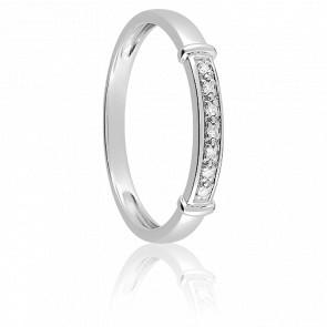Alianza Cabanel Oro Blanco y Diamantes