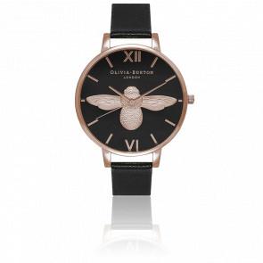 Reloj Moulded Bee Rose Gold black OB16AM98