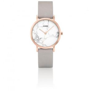 Reloj La Roche Petite Rose Gold White Marble/Grey CL40103