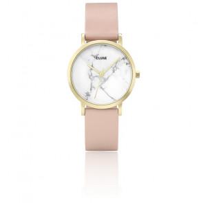 Reloj La Roche Petite Gold White Marble/Nude CL40101