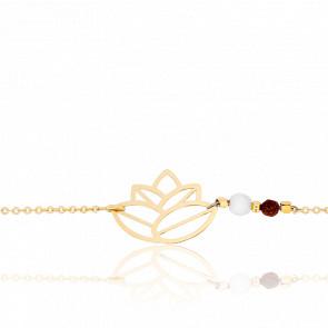 Pulsera Zen Perlas & chapado Oro