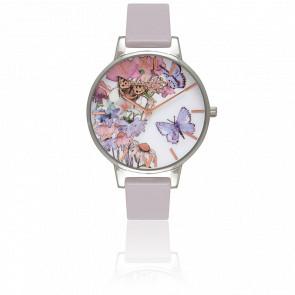 Reloj Painterly Prints Silver Gold Lilac OB16PP15