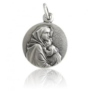 Medalla Virgen con el Niño Ferruzzi Plata