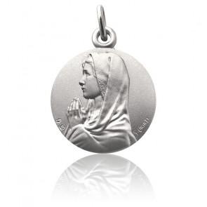 Medalla Virgen María manos unidas Plata