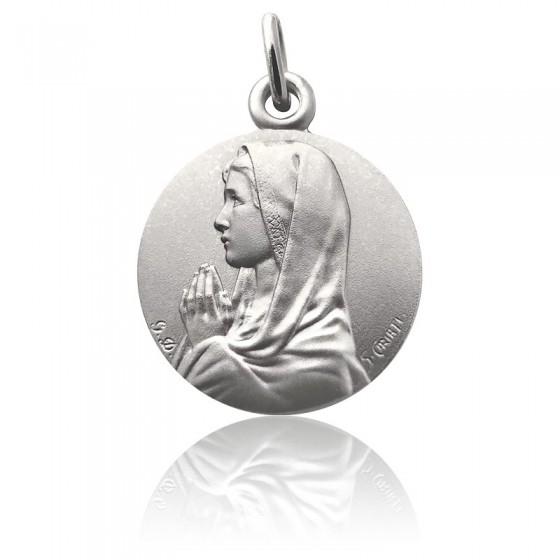Colgante Madonna real plata 925 16 mm maría jesús calidad Sterling plata