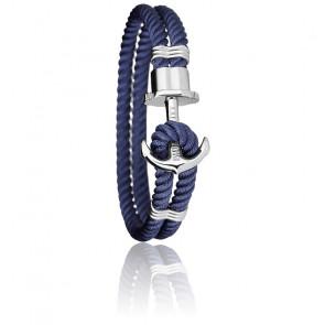 Pulsera Ancla PHREP Acero Nylon Navy Blue