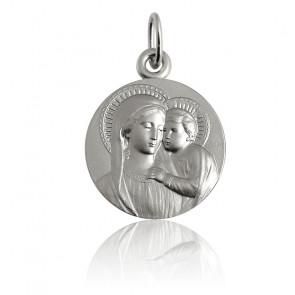 Medalla Virgen con Niño busto Plata