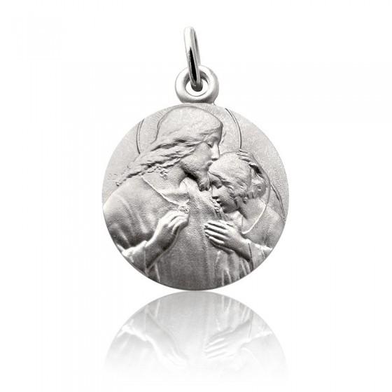 fee74d7a7b1 Medalla de comunión de plata con Cristo de Martineau. - Ocarat