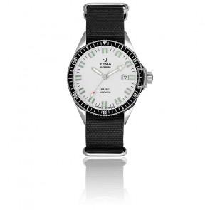 Reloj Superman Automatique Silver Nato negro YMHF1550A-FN22