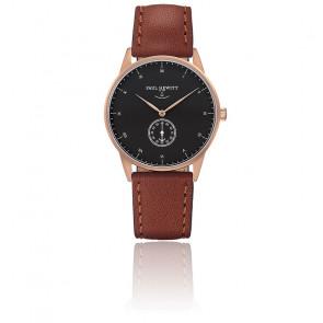 Reloj Signature Line Gold Rose Black Sea Cuero Marrón
