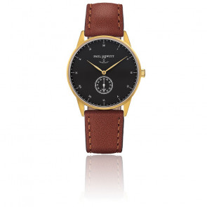 Reloj Signature Line Gold Black Sea Cuero Marrón