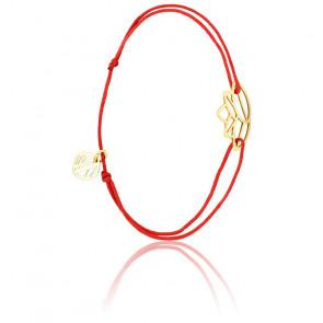 Pulsera Zen Cordón Rojo & chapado Oro