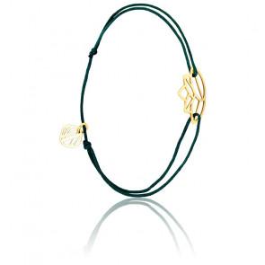 Pulsera Zen Cordón azul & chapado Oro