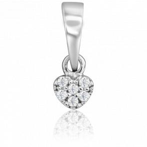 Colgante Rombo Diamantes Oro Blanco 9 quilates