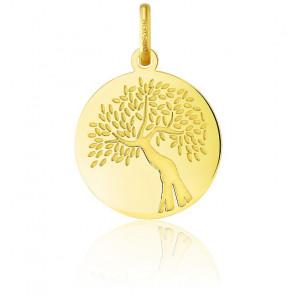 Colgante Árbol de la Vida Oro Amarillo 18K Ramas