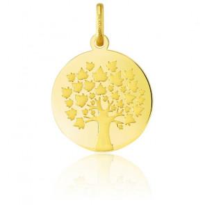 Colgante Árbol de la Vida Oro Amarillo 18K - Hojas de Arce
