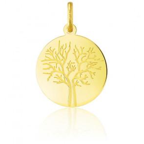 Colgante Árbol de la Vida Oro Amarillo 18K Invierno