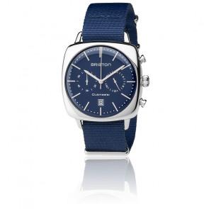 Reloj Clubmaster Vintage Acero Date Nato azul