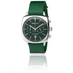 Reloj Clubmaster Vintage Acero HMS Date Nato verde