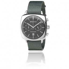 Reloj Clubmaster Vintage Acero HMS Date Nato gris