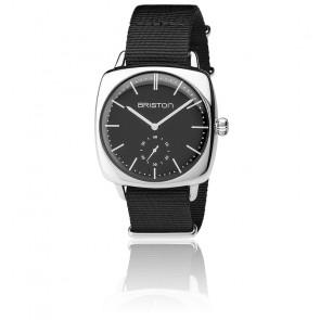 Reloj Clubmaster Vintage Acero HM Segundero Nato negro