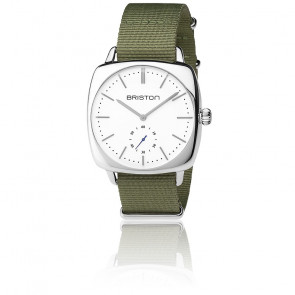 Reloj Clubmaster Vintage Acero HM Segundero Nato verde militar