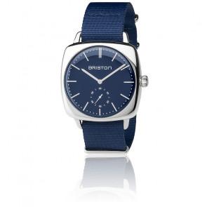 Reloj Clubmaster Vintage Acero HM Segundero Nato azul