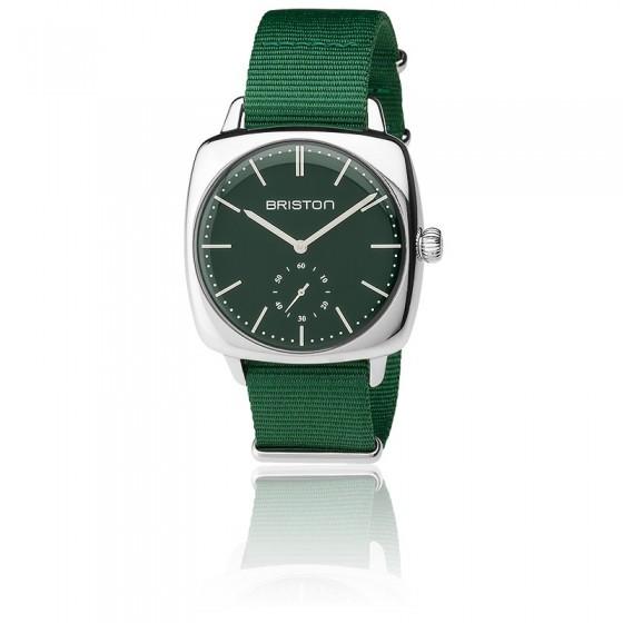 Reloj Clubmaster Vintage Acero HM Segundero Nato verde