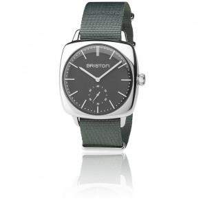 Reloj Clubmaster Vintage Acero HM Segundero Nato gris