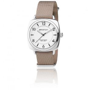 Reloj Clubmaster Chic Acero - HMS Plateado/Blanco