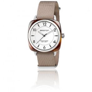 Reloj Clubmaster Chic Acetato - HMS Blanco y Plata