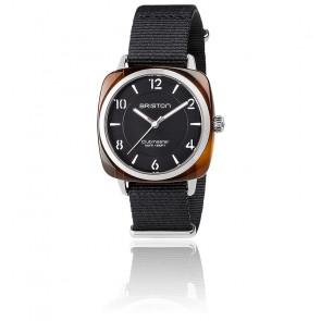 Reloj Clubmaster Chic Acétate - HMS Negro y Plata