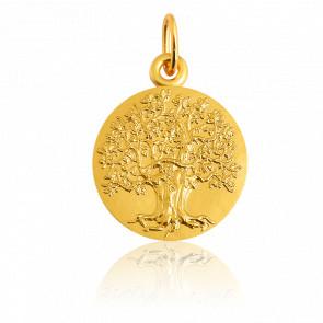 Colgante Árbol de la Vida raíces oro amarillo 18K