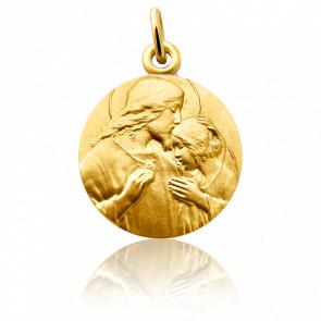Medalla Comunión Oro amarillo 18K
