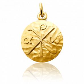Medalla Crisma Oro Amarillo 18K