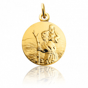 Medalla San Cristóbal Oro amarillo 18K