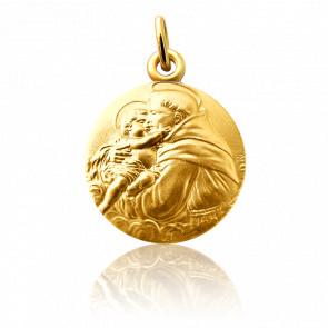 Medalla San Antonio Oro Amarillo 18K