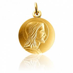 Medalla Jesús perfil Oro amarillo 18K