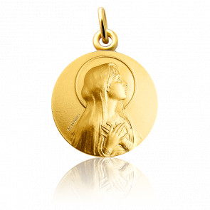 Medalla Virgen María Oro Amarillo 18K