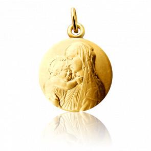 Medalla Virgen con el Niño Botticelli Oro Amarillo 18K
