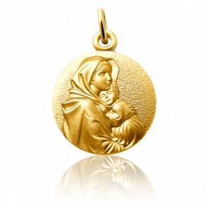 Medalla de la Virgen con el Niño Ferruzzi Oro Amarillo 18K