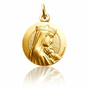 Medalla Nuestra Señora de la Sabiduría Oro Amarillo 18K