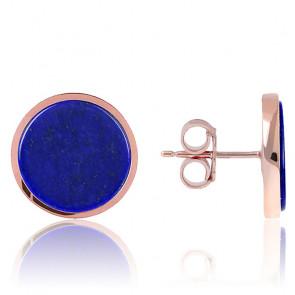 Pendientes de botón Lapis Lazuli Alba