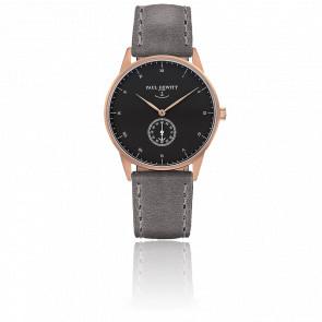 Reloj Signature Line Gold Rose Black Sea Cuero Gris