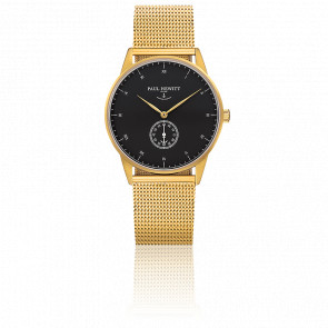 Reloj Signature Line Gold Black Sea Malla Milanesa Gold