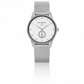 Reloj Signature Line Silver White Ocean Malla Milanesa Silver
