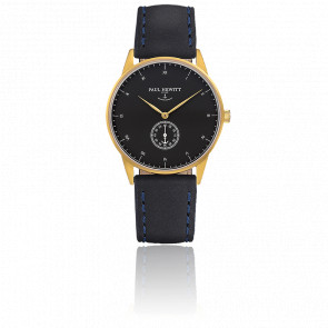 Reloj Signature Line Gold Black Sea Cuero Azul Marino